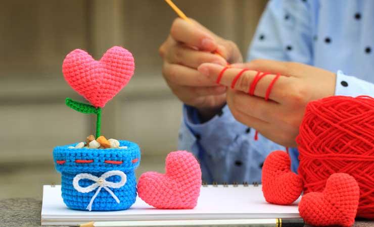 Crochet and hearts