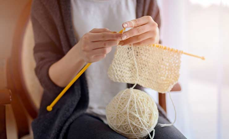 Busy knitting