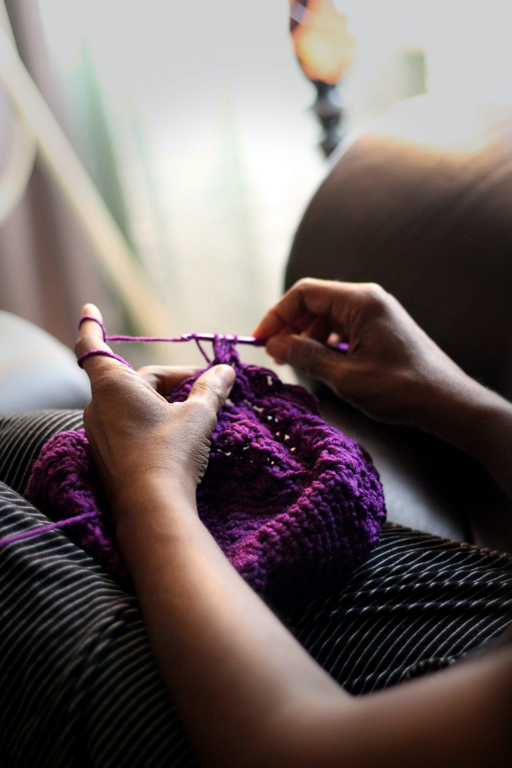 Busy crocheting
