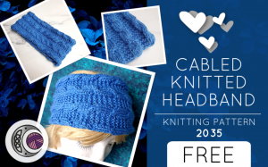 CABLED KNITTED HEADBAND (2035)