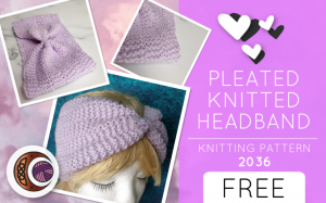 PLEATED KNITTED HEADBAND (2036)