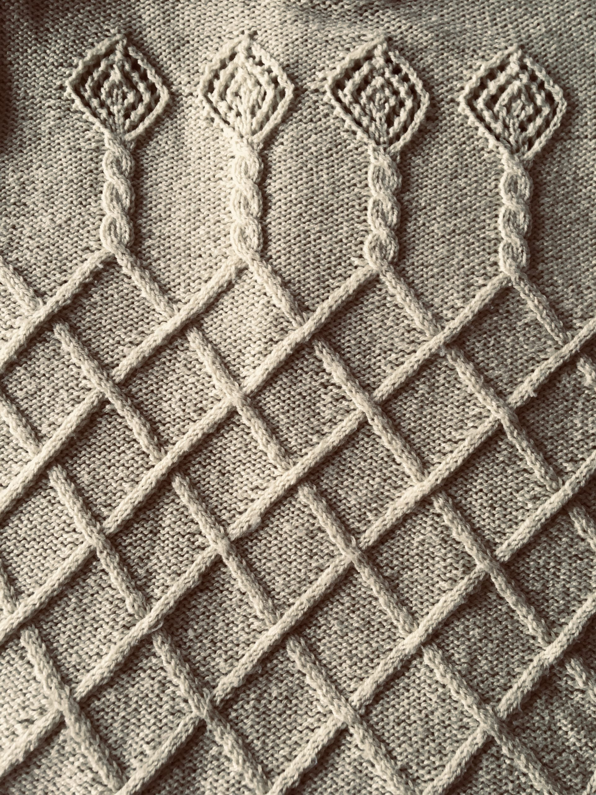 Cable and lace