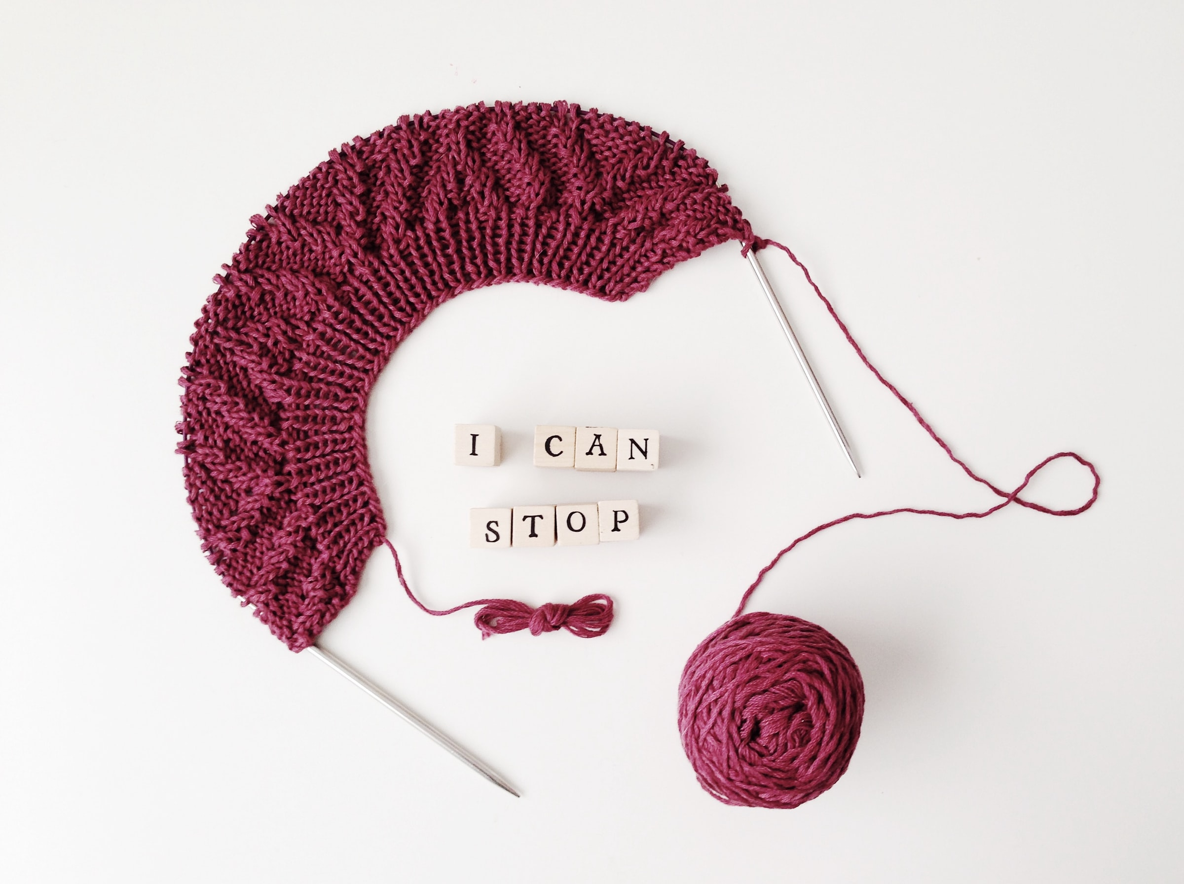I can stop... knitting