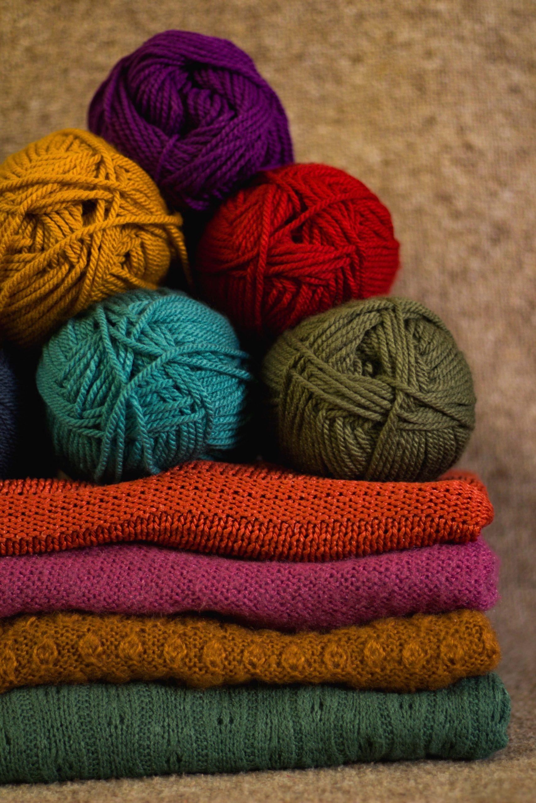 Autumn colour yarn